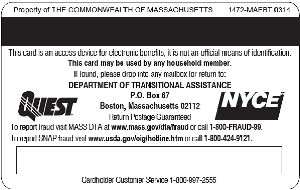 Here Are Pictures Of Three Different EBT Cards The Information Below Summarizes Key And Your Households Rights